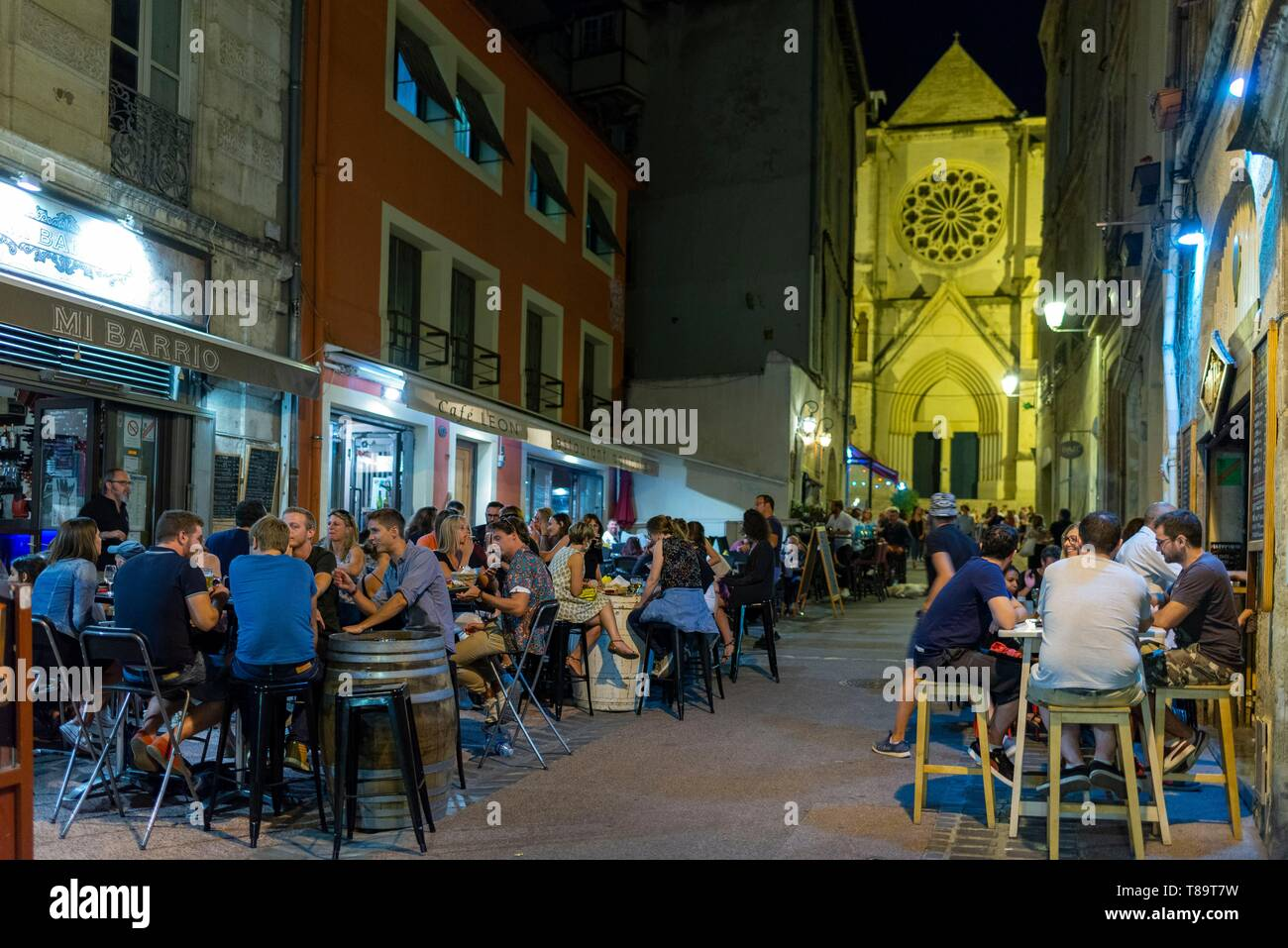 Restaurant Oriental Montpellier Night Stool Stock Photos Night Stool Stock Images Alamy
