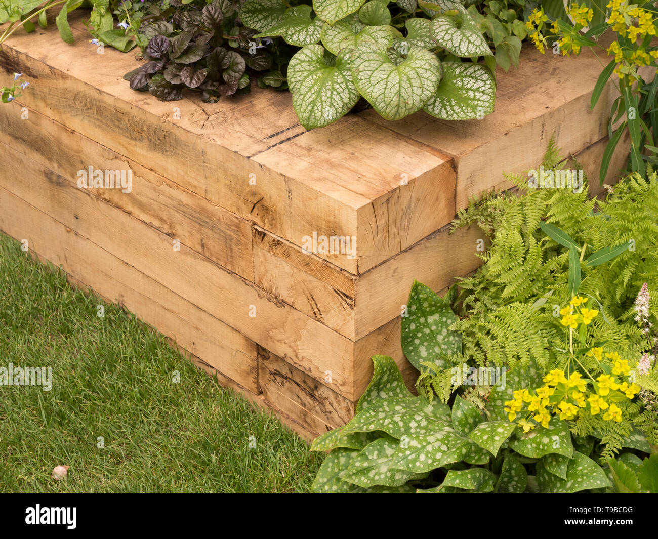 Using Railway Sleepers For Raised Vegetable Beds Raised Bed In Garden Made From Large Timber Pieces New Railway