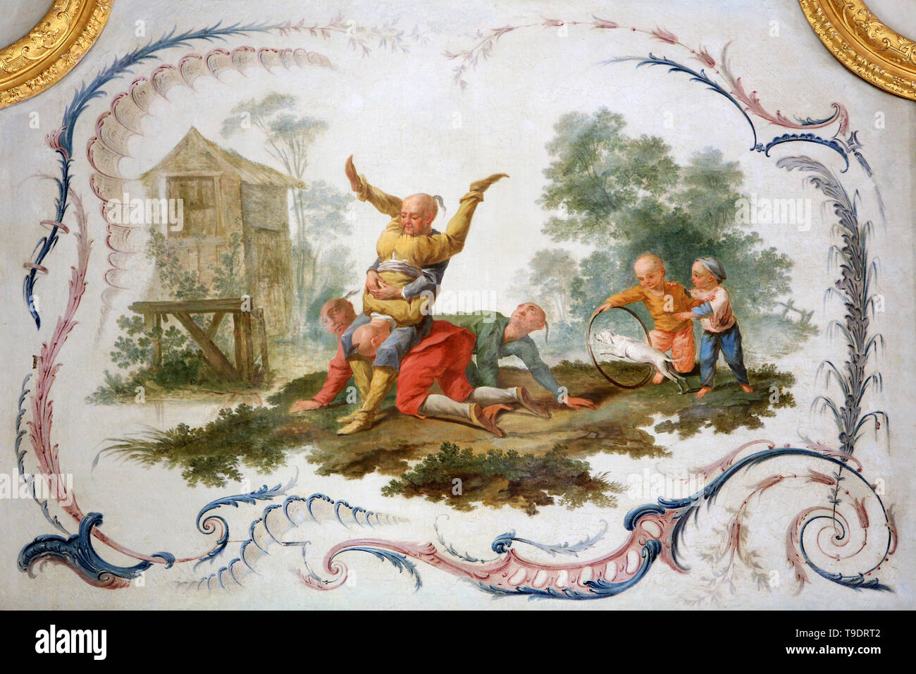 Salon Chinois Panel Painted By Christophe Huet 1747 Salon Chinois Castle Of