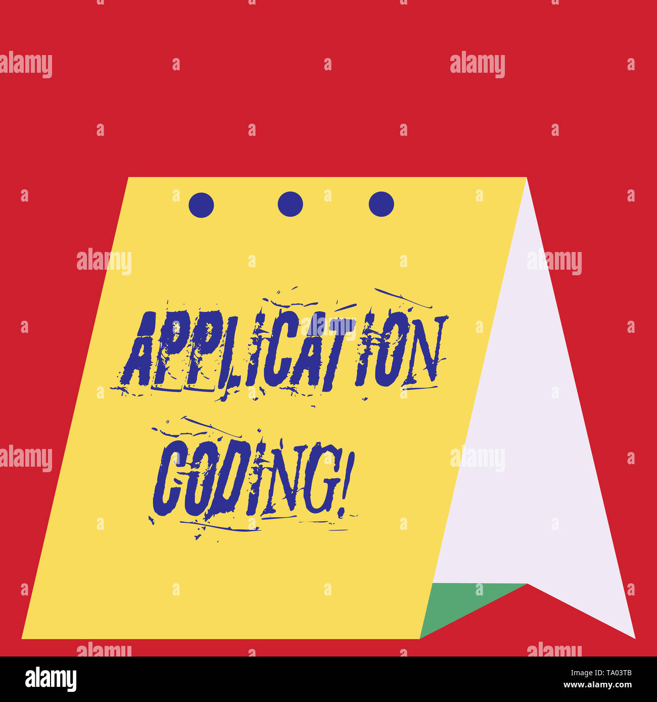Möbel Modern Design Writing Note Showing Application Coding Business Concept For