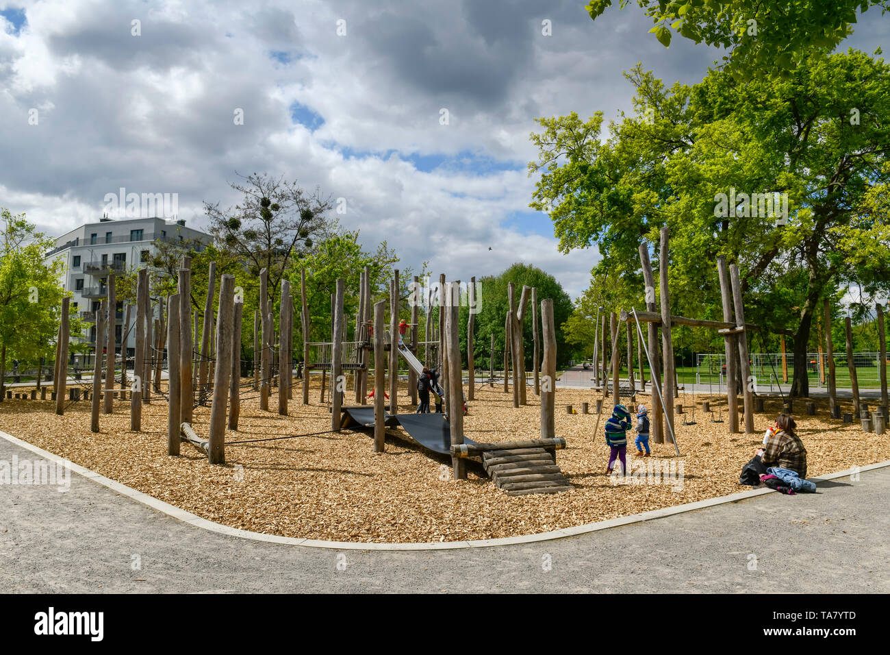 Spielplatz Berlin Marzahn Berlin Germany Childrens Playground In Stock Photos Berlin