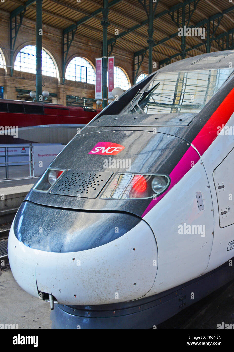 Paris Train French Tgv Train In Paris Station Stock Photos French Tgv Train