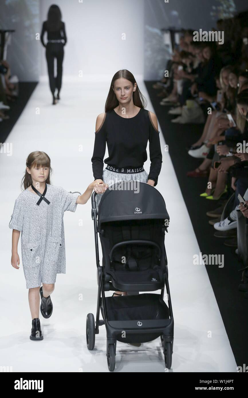 Baby Model Berlin Berlin Germany 02nd July 2019 Models On The Catwalk With