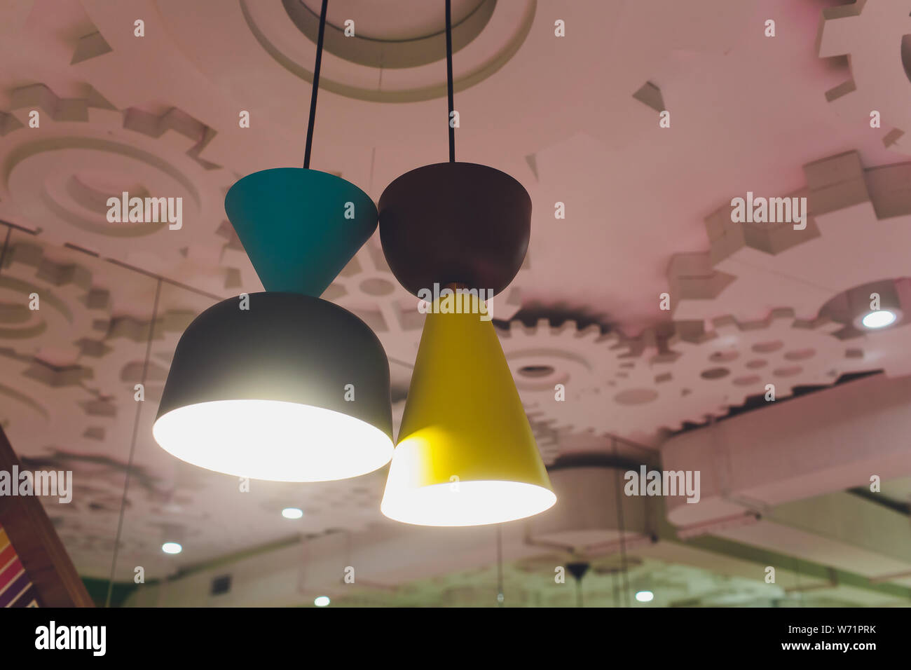 Modern Lamps Led Modern Chandelier With Led Lamps Hanging On The Ceiling In