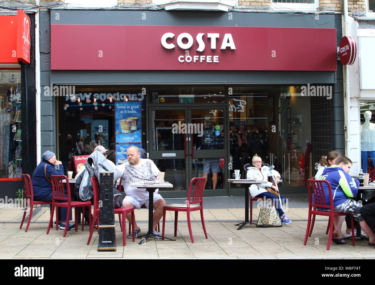 August 10 2019 Paignton Devon United Kingdom People Are Seen At Costa Coffee Shop In Devon Credit Image Keith Mayhew Sopa Images Via Zuma Wire Stock Photo Alamy