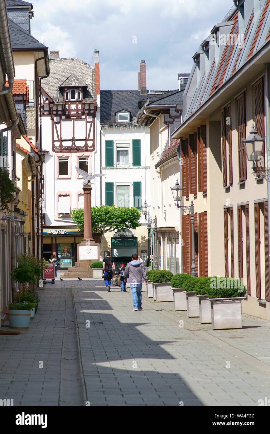 Bad Homburg Bad Homburg Germany June 09 2019 A Narrow Alley With