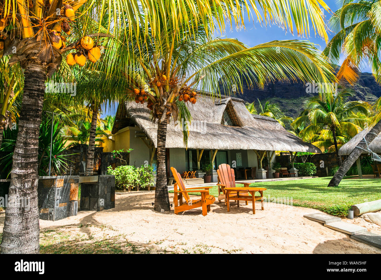 Mauritius Island Beach House High Resolution Stock Photography And Images Alamy
