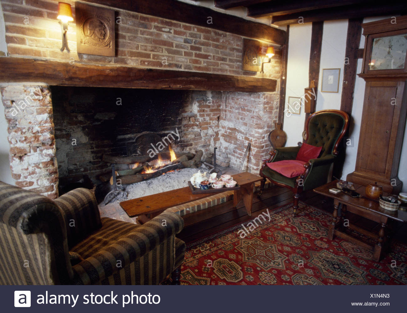 Inglenook Fireplace Stock Photos Inglenook Fireplace