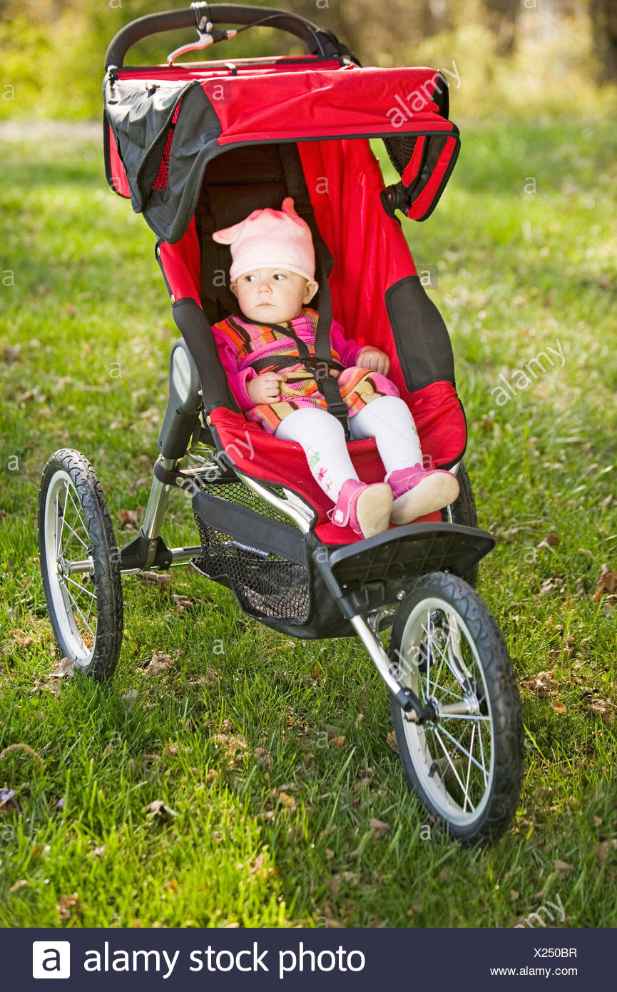 Toddler Stroller Jogging Baby Sitting In A Jogging Stroller Stock Photo 276705291