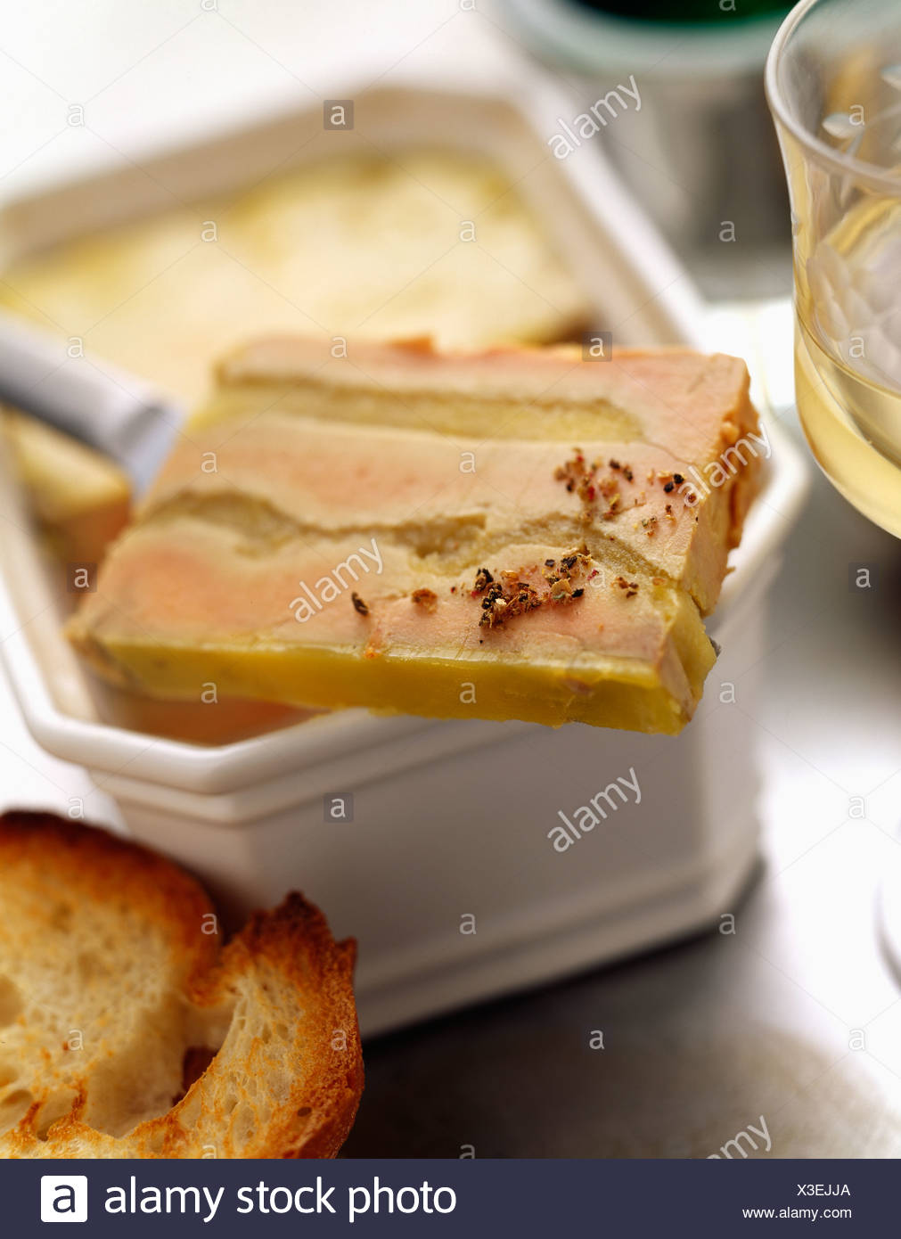 Foie Gras Terrine Foie Gras Terrine With Apple Stock Photo 277531810 Alamy