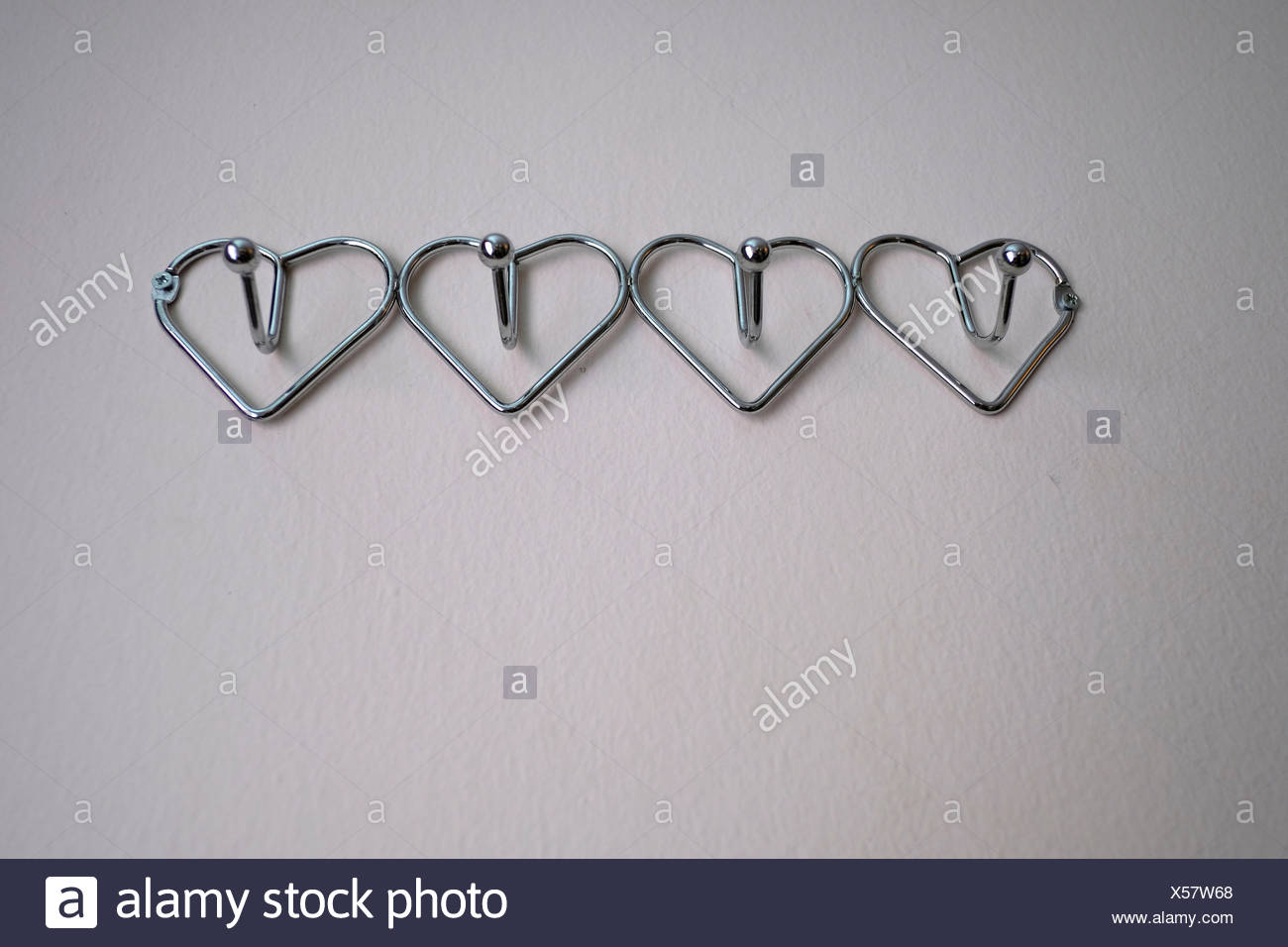 Clothes Hooks Heart Shaped Clothes Hooks Stock Photo 278612608 Alamy