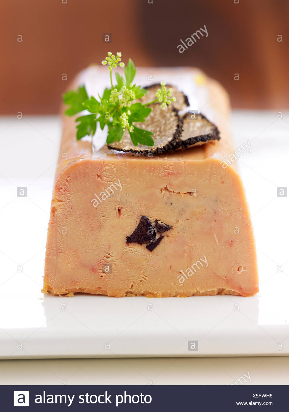 Foie Gras Terrine Foie Gras Terrine With Truffles Stock Photo 278788530 Alamy
