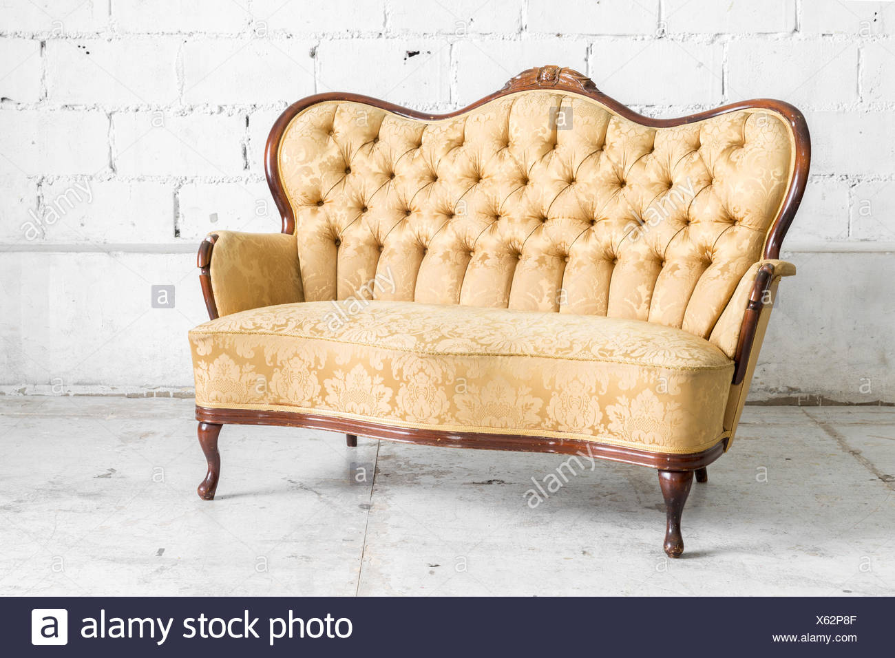 Retro Sofa Wood Brown Retro Sofa Stock Photo 279115215 Alamy