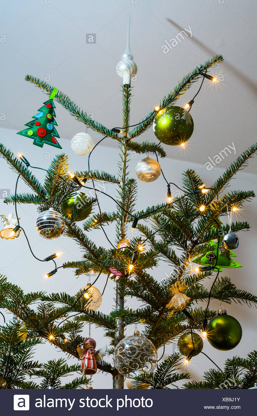 Tannenbaum Lichterkette Christbaum Mit Lichterkette Stock Photo 282338839 Alamy