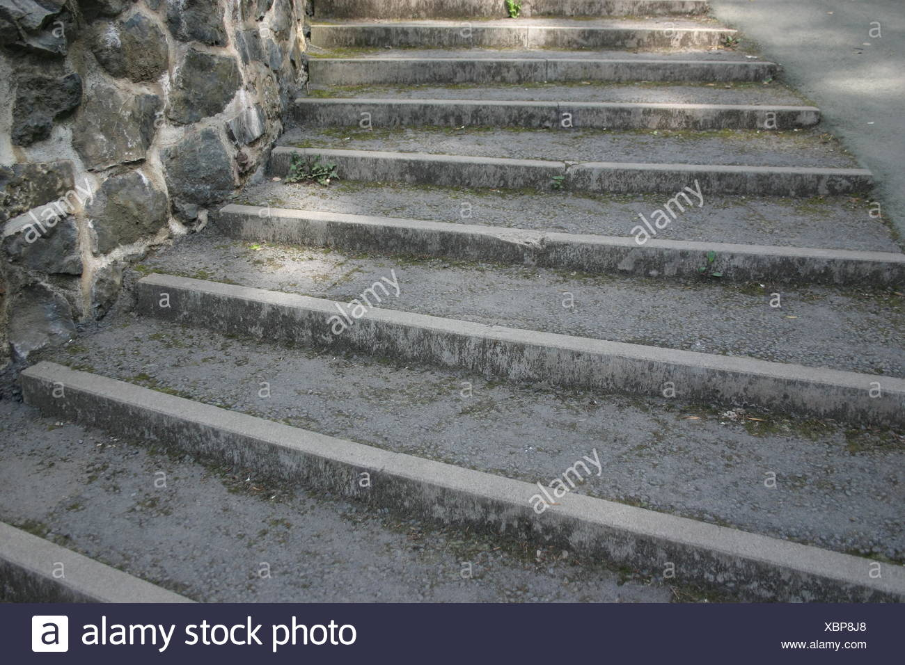 Steintreppe Stairs Upwards Wall Stonewall Ascent Tedious Steps Treppenstufen