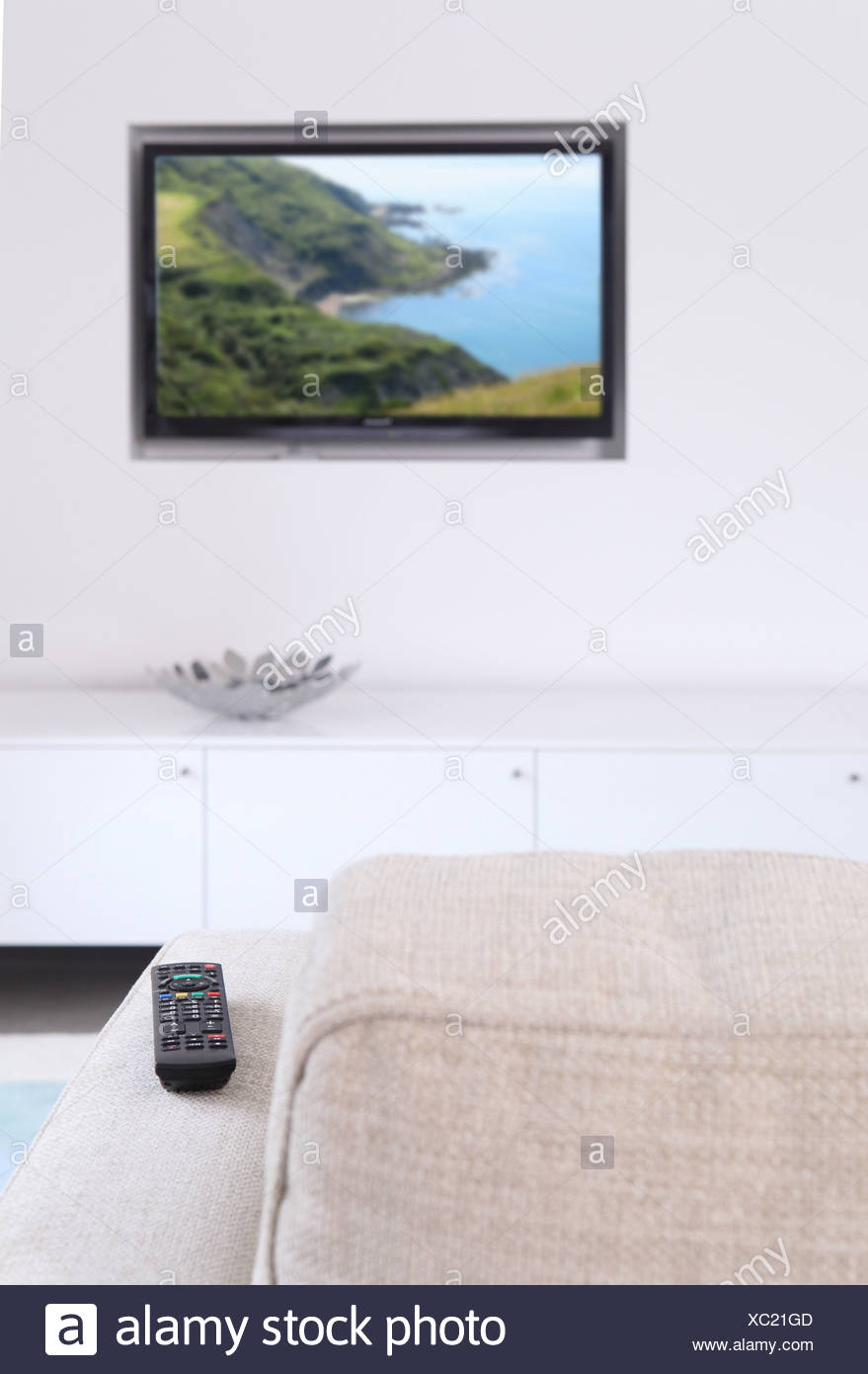 Holzvertäfelung Tv Plain Wall Living Room Stock Photos Plain Wall Living Room Stock
