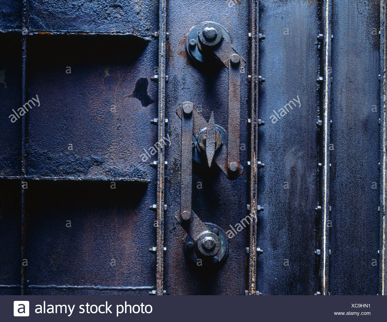 Closein Boiler Close Up Of Closed Rusted Door Of Boiler Stock Photo 282953245