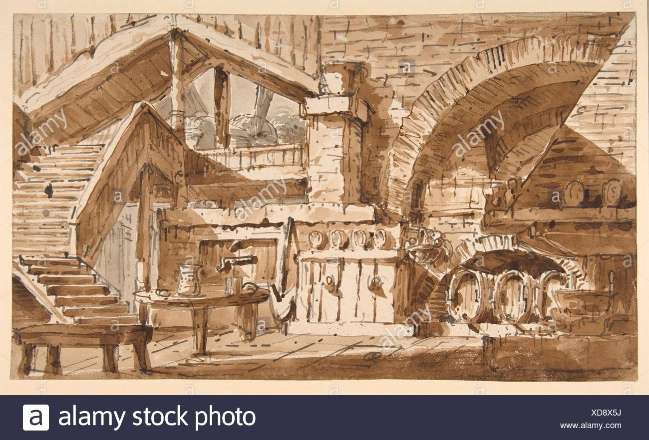 Cucina Rustica Meaning Stage Set Showing Interior Stock Photos Stage Set Showing