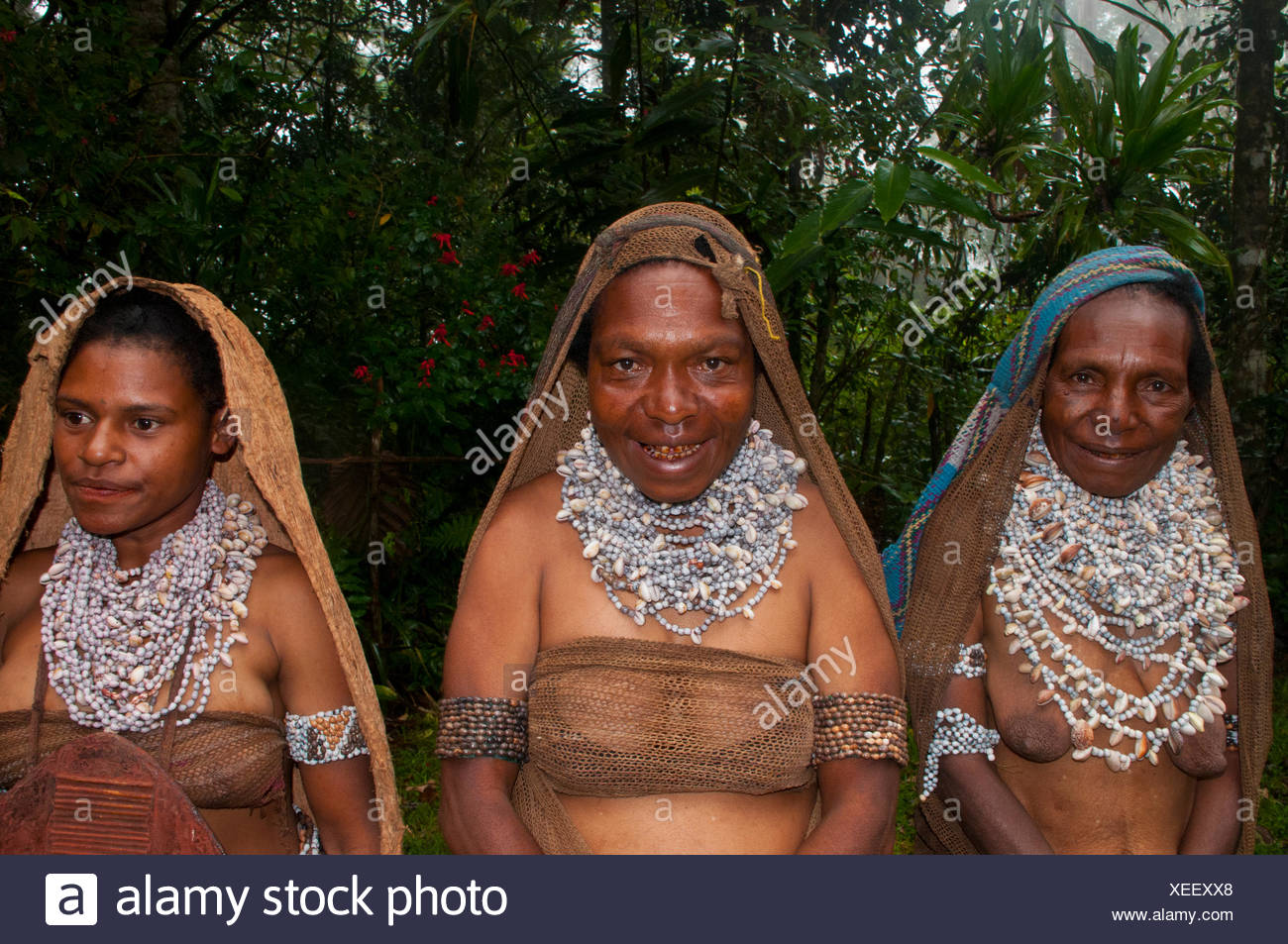 Tribal Women Wearing Traditional Dresses Highlands Region
