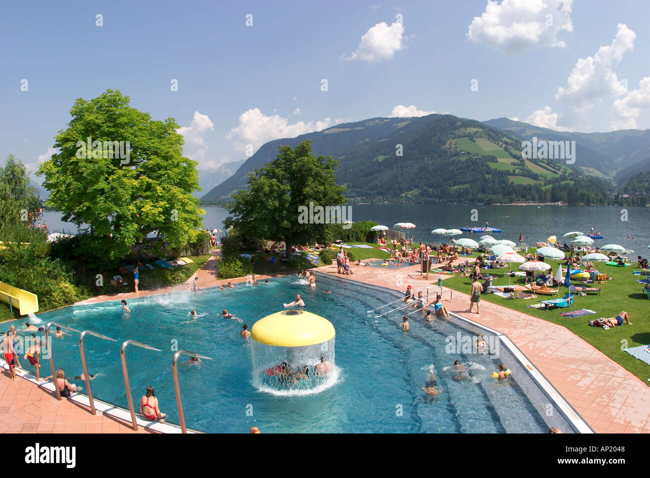 Freibad In Zell Am See Zeller See Bin Siehe Salzburg - Zwembad Zell Am See