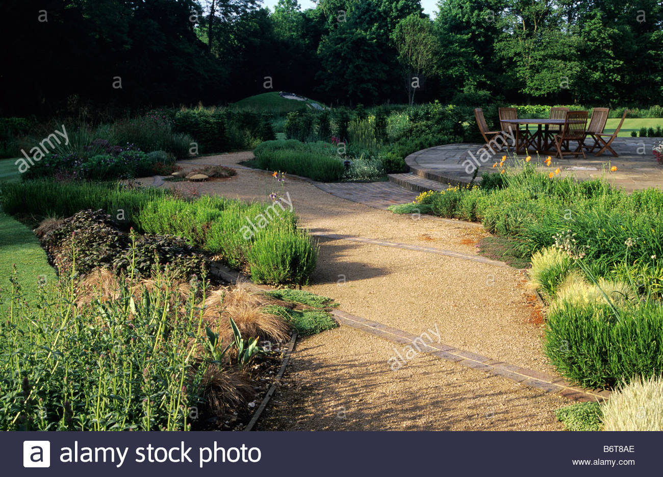 Gartengestaltung Modern Kies Private Garten Hampshire Design Barbara Hunt Moderner