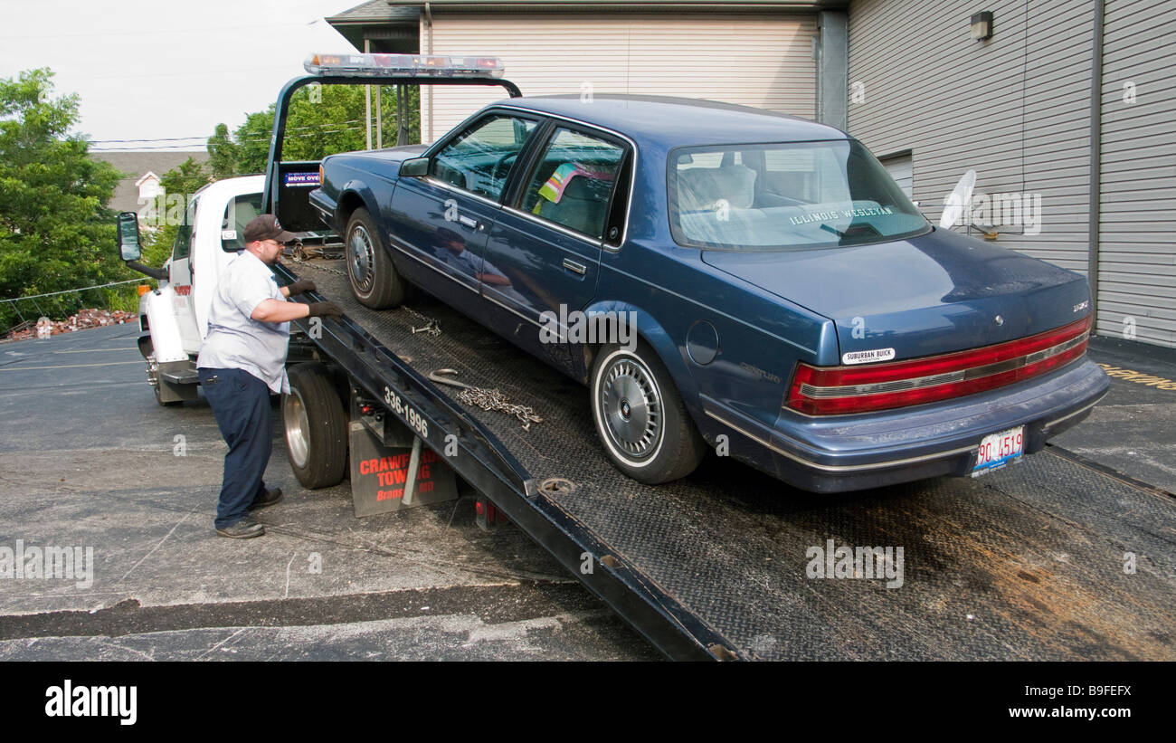 Amerikanische Serie Auto Im Wohnzimmer Usa American Tow Truck Stockfotos And Usa American Tow Truck