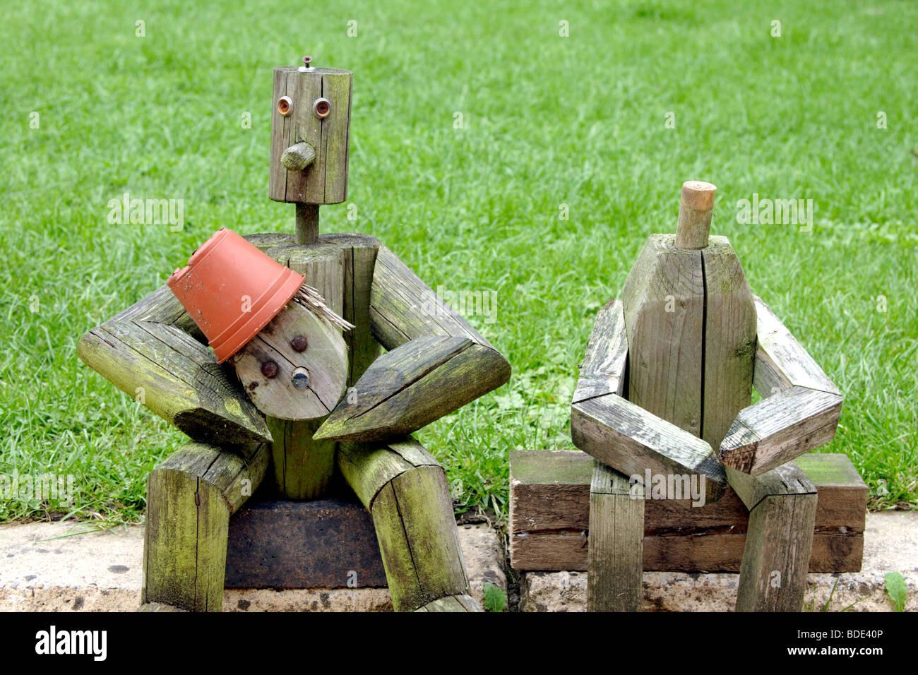 Holzfiguren Garten Tiere Im Garten