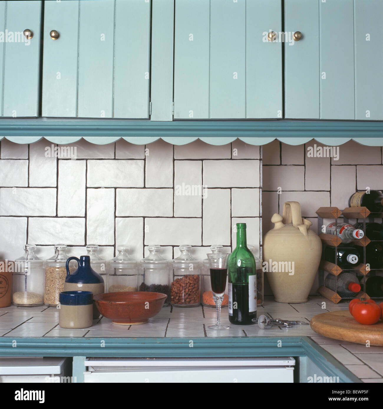 Arbeitsplatten Küche Türkis Kitchen Details Tiling Stockfotos And Kitchen Details Tiling