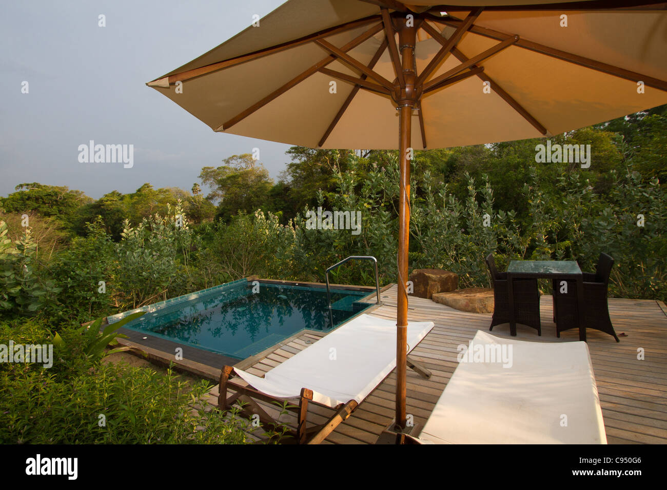 Tauchbecken Outdoor Whirlpool Und Tauchbecken Privatpool Im Ulagalla Resort Luxuriöse Tropische Art Boutique-hotel Befindet Sich Am Thirappane, Sri Lanka Stockfotografie - Alamy