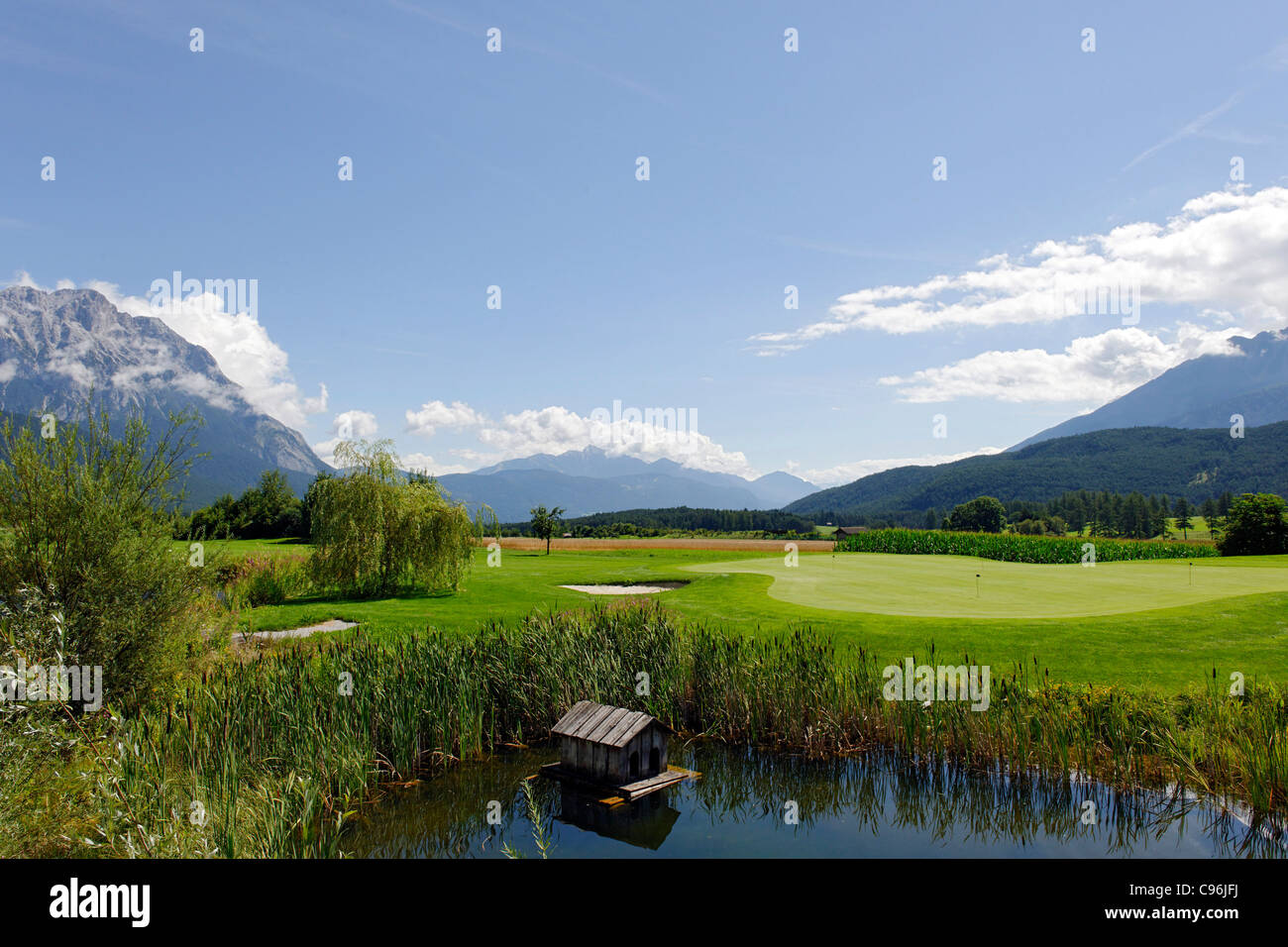 Golfpark Mieming Mieminger Plateau Stockfotos And Mieminger Plateau Bilder