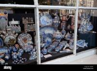 Delfter Blau in Shop Fenster, Amsterdam, Nord-Holland ...