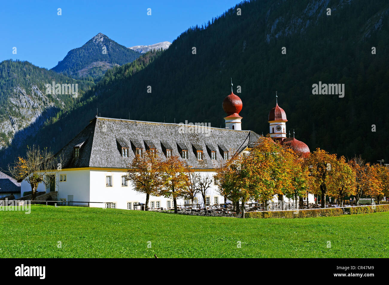 Berchtesgadener Esszimmer Berchtesgaden Deutschland Germany Bavaria Berchtesgadener Land View Stockfotos Germany