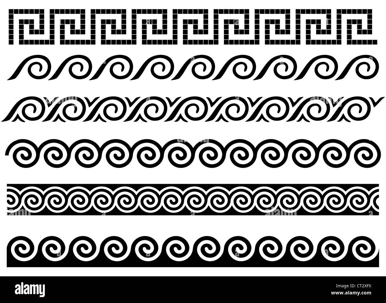 Black And White Polka Dot Wallpaper Border M 228 Ander Und Welle Antiken Griechischen Grenzen Reihe Von