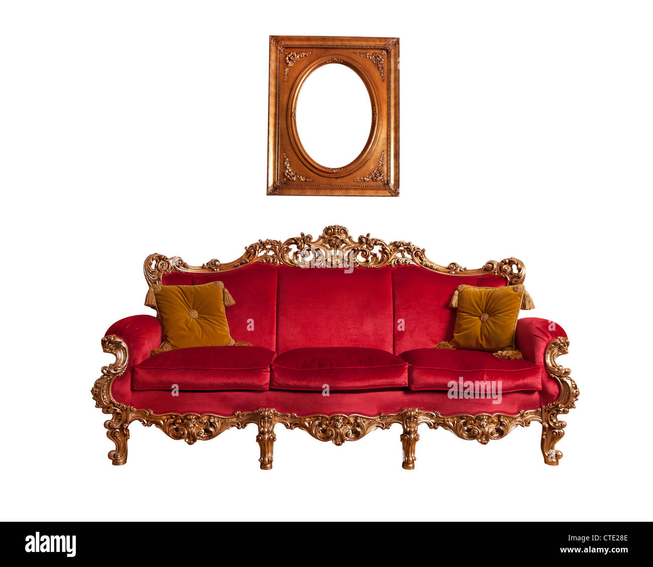 Kleines Barock Sofa Sofa Isoliert Stockfotos Sofa Isoliert Bilder Alamy