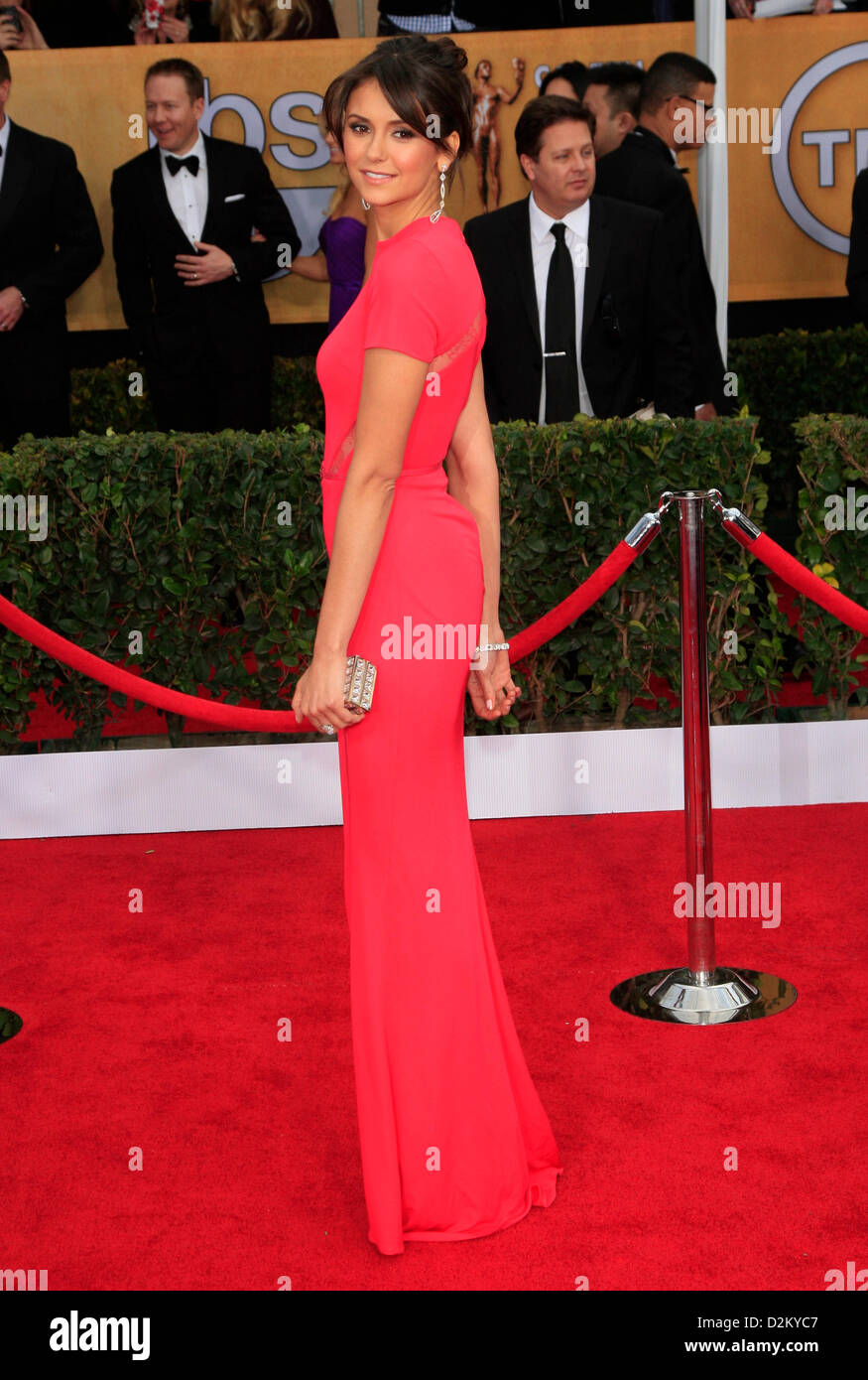 Roter Teppich Los Angeles Nina Dobrev 19 Annual Screen Actors Guild Awards Roten Teppich