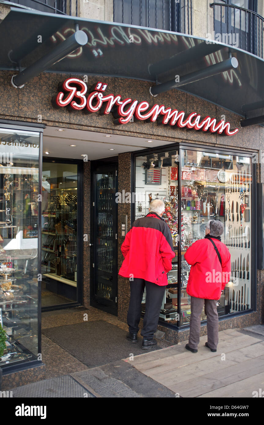 Borgermann Messer Shop Düsseldorf Deutschland Stockfotografie Alamy