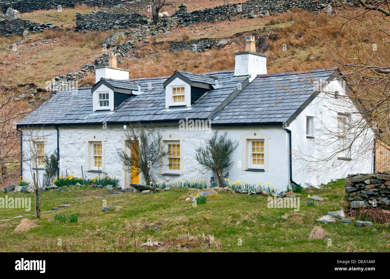 Walisische Küche Wales Slate Cottage Stockfotos And Slate Cottage Bilder Alamy