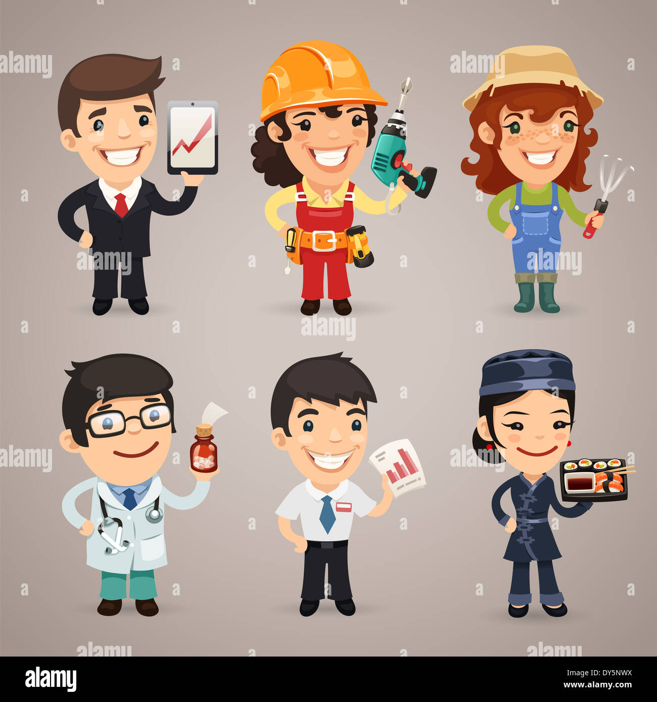 Tischler Comic Carpenter Man Cartoon Stockfotos And Carpenter Man Cartoon
