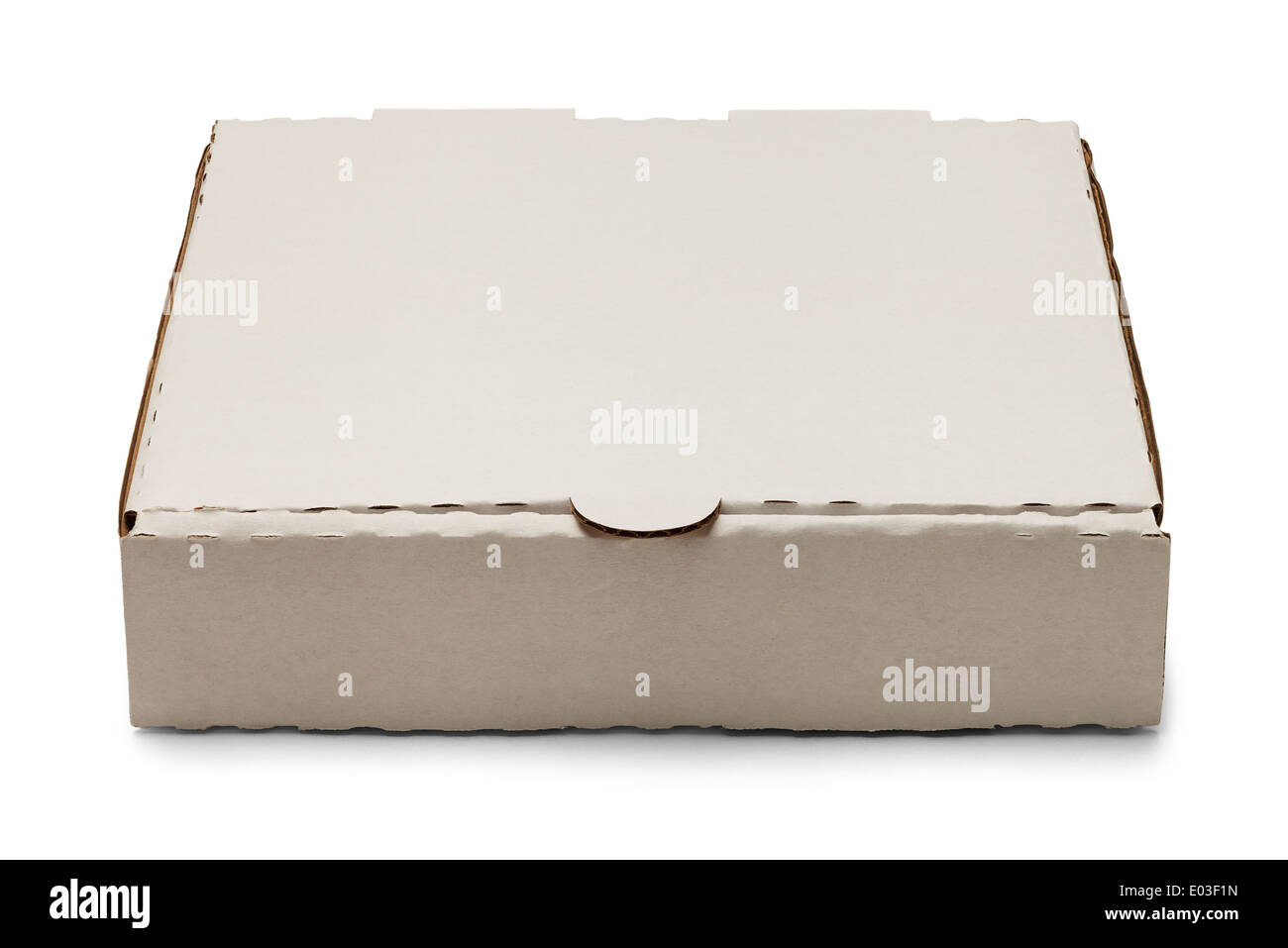 Weiße Box Leere Weiße Pappe Pizza Box Isolated On White Background Stockfoto