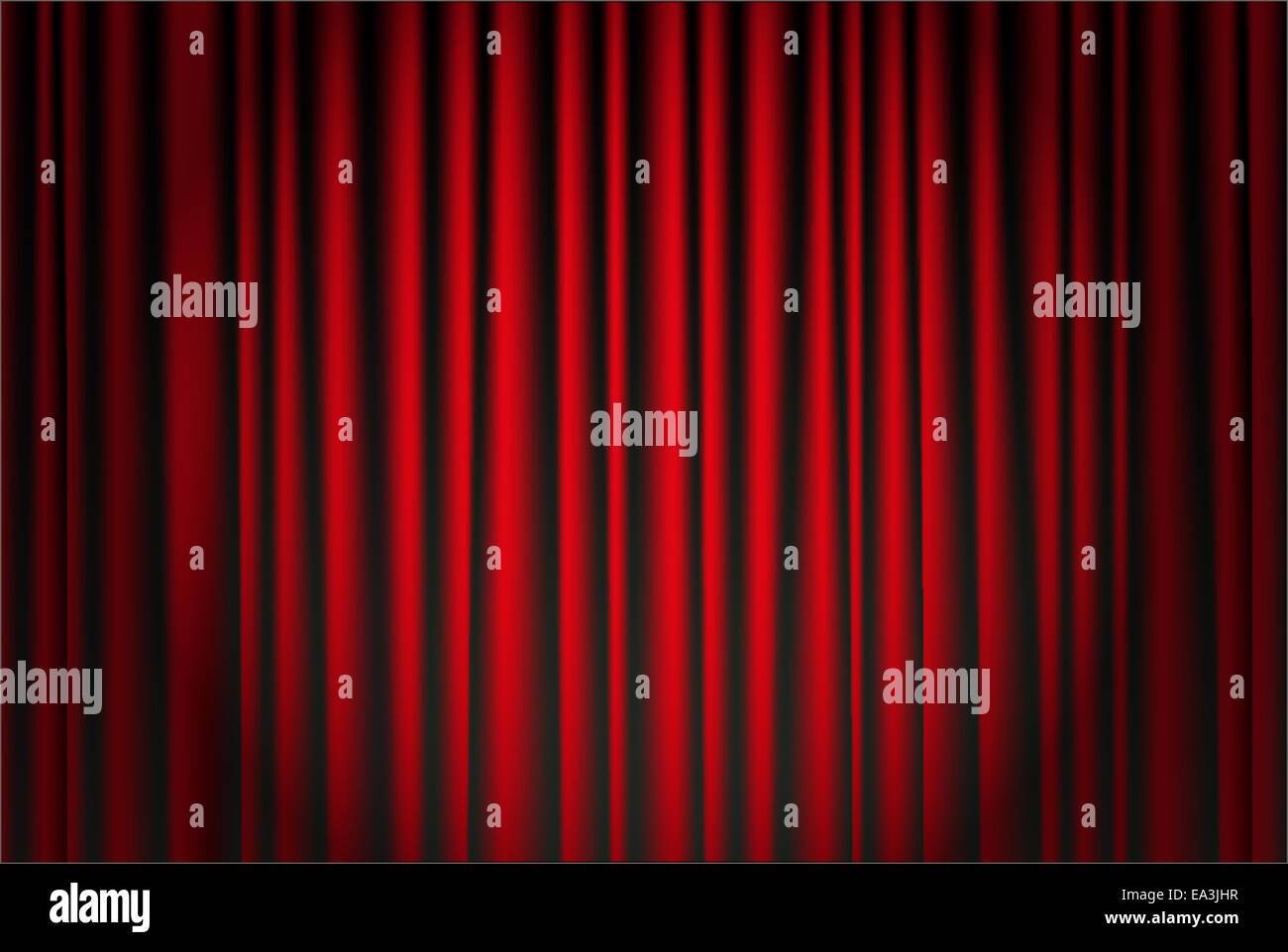 Samtvorhang Rot Theater Stage Red Curtain Vector Stockfotos And Theater