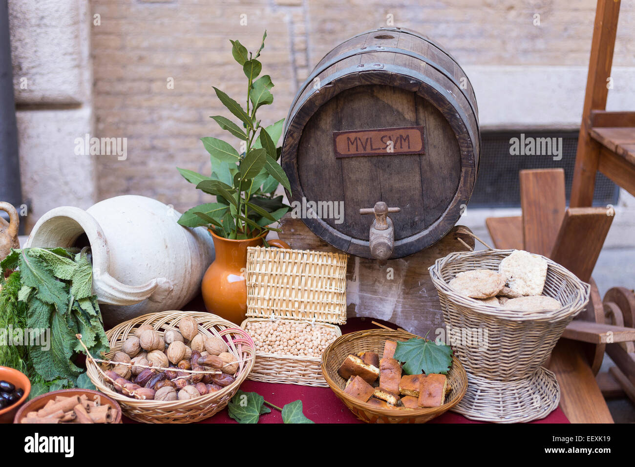 Küche Antikes Rom Ancient Roman Food Stockfotos And Ancient Roman Food Bilder