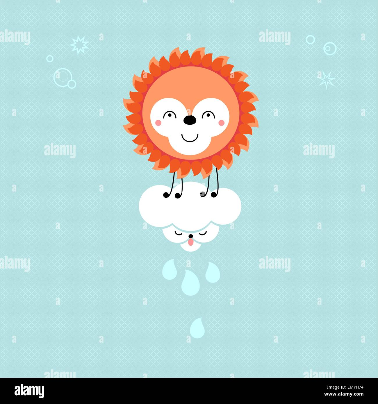 Sonne Bilder Comic Sonne Und Wolke Am Himmel Cute Kawaii Animalische Comic Figuren