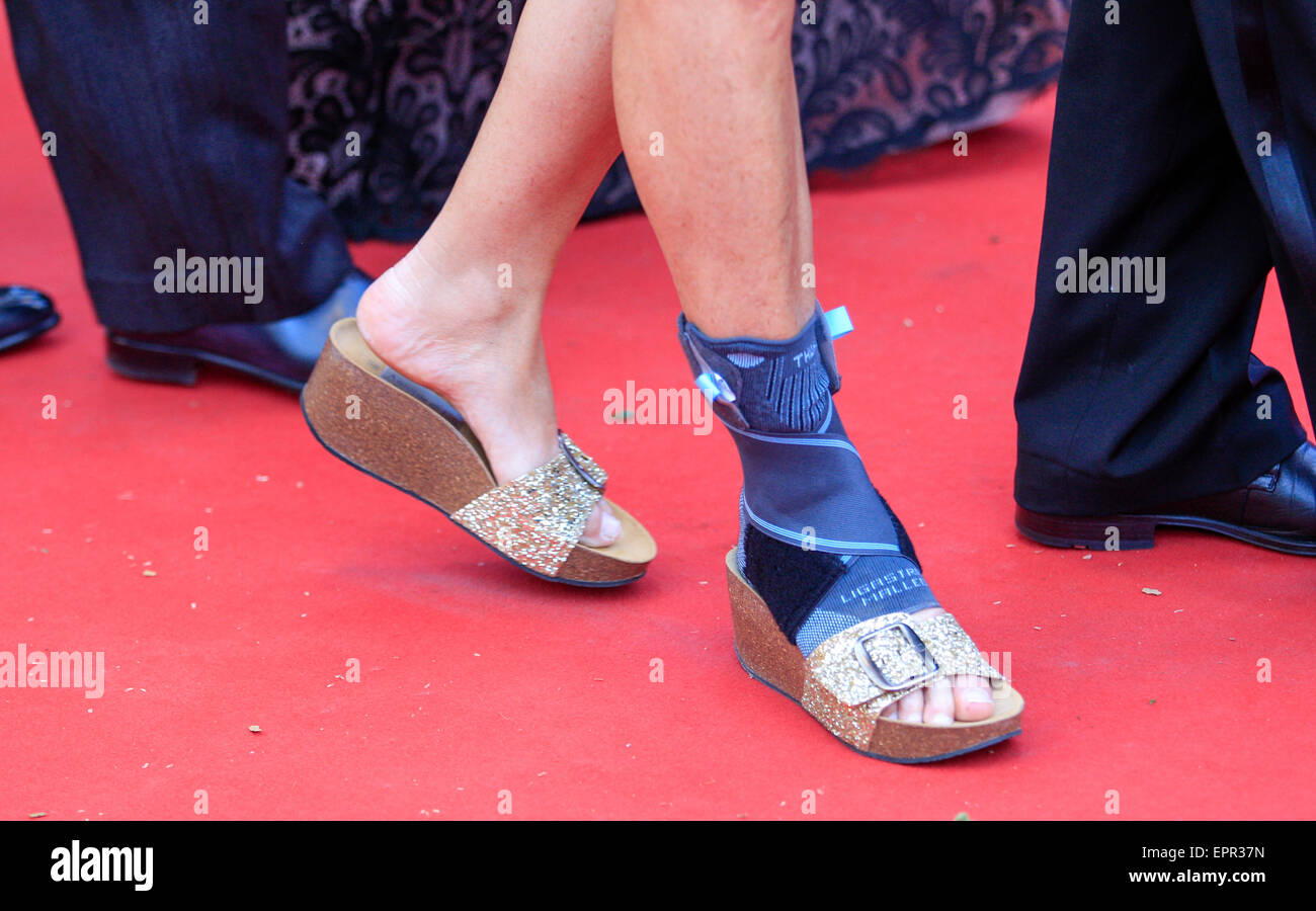 Flache Schuhe Roter Teppich Red Carpet Cannes Stockfotos Red Carpet Cannes Bilder Alamy
