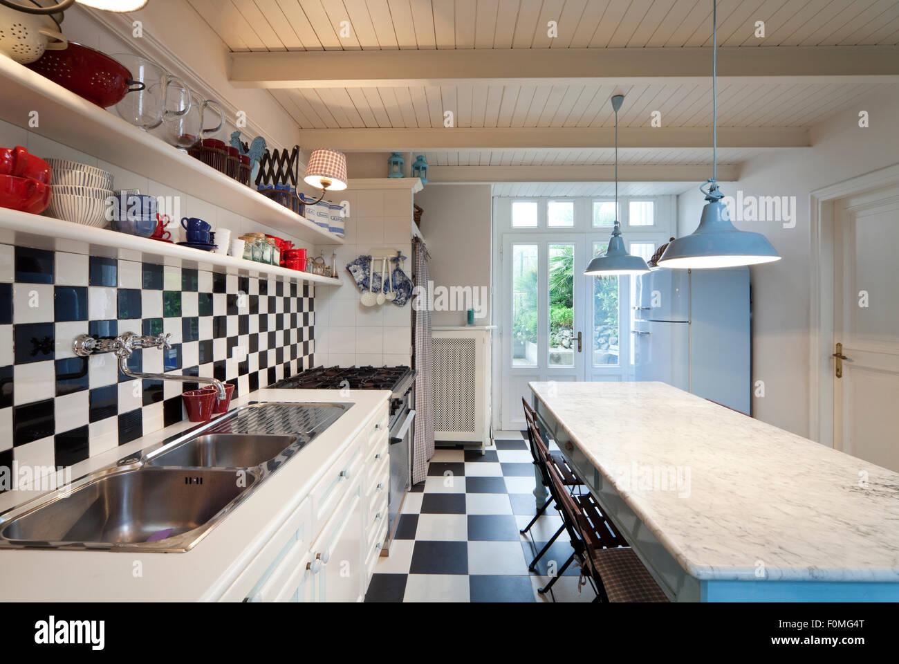 Fußboden Küche Quest ~ Boden für küche und esszimmer shabby landhaus vorher nachher