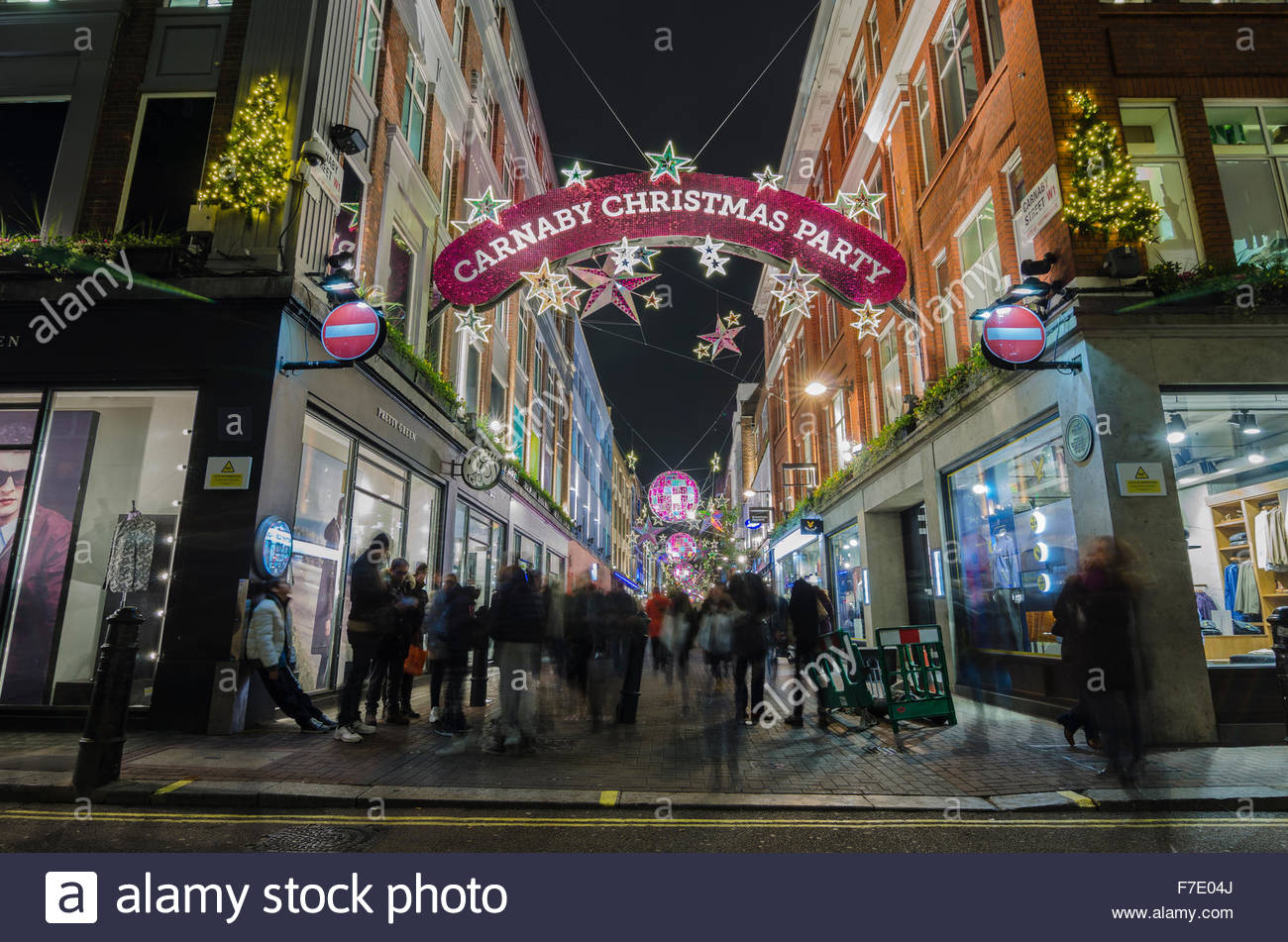 Straßenlaterne Weihnachtsbeleuchtung London Street Stockfotos And London Street Bilder Alamy