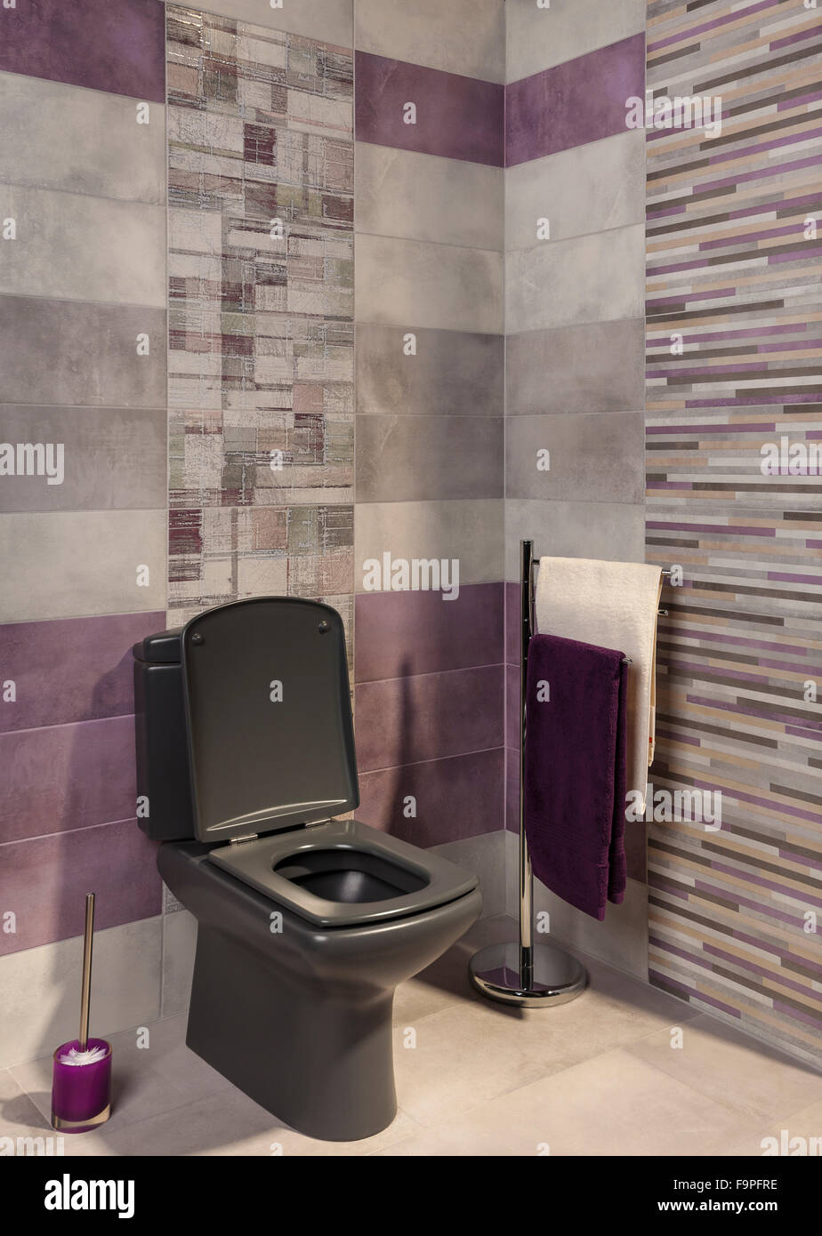 Wie Fliest Man Ein Modernes Bad Private Toilet Stockfotos Private Toilet Bilder Alamy
