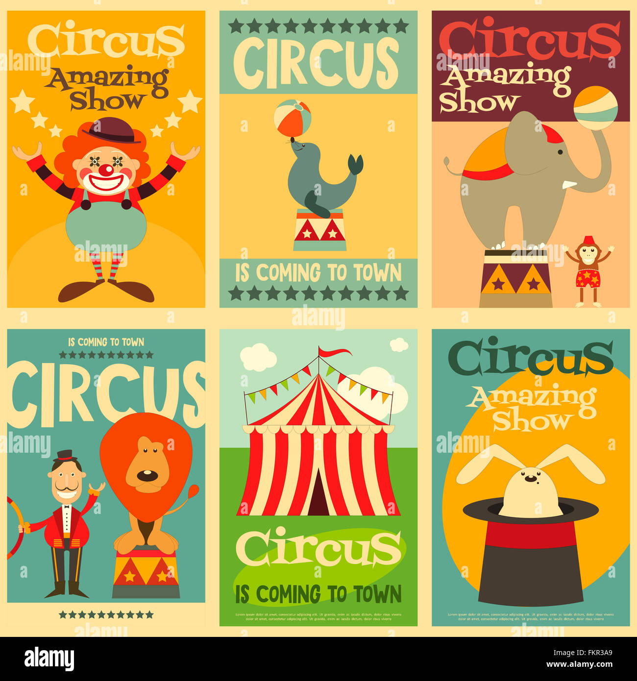 Bilder Und Poster Circus Posters Stockfotos And Circus Posters Bilder Alamy