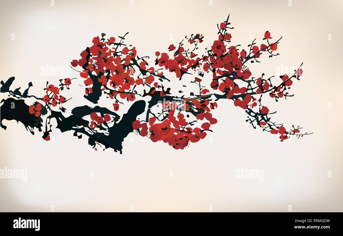 Blossom Couchtisch Japanese Painting Cherry Blossom Stockfotos And Japanese
