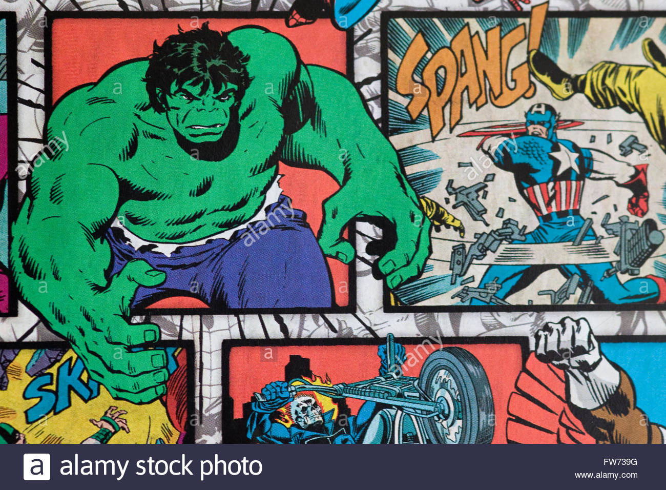 Tapete Comic Marvel Superhelden Tapete Stockfoto Bild 101574524 Alamy