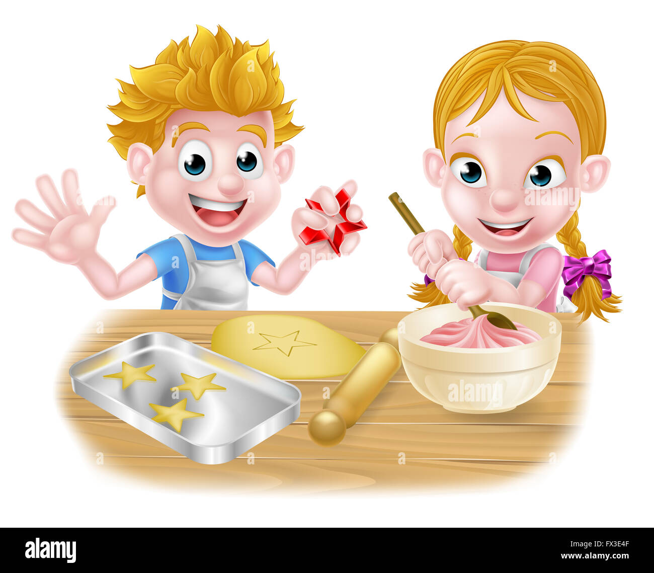 Bilder Cartoon Küche Cartoon Kinder Backen Und Kochen Als Köche In Der Küche